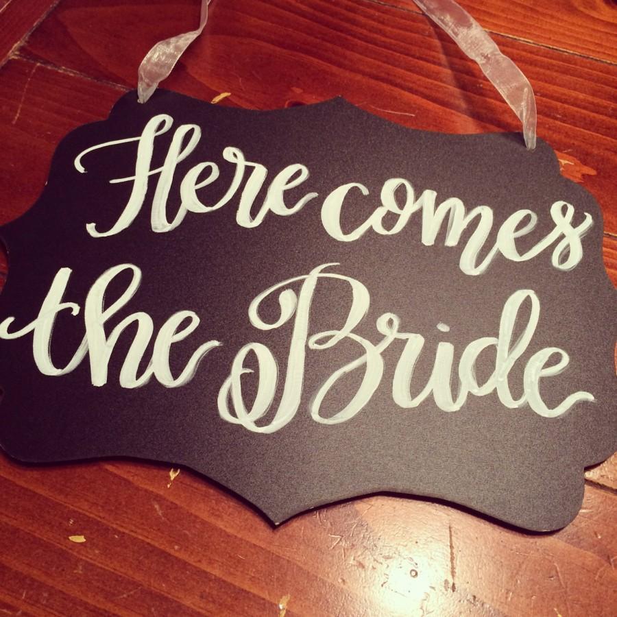زفاف - Here Comes the Bride - Ring bearer's sign