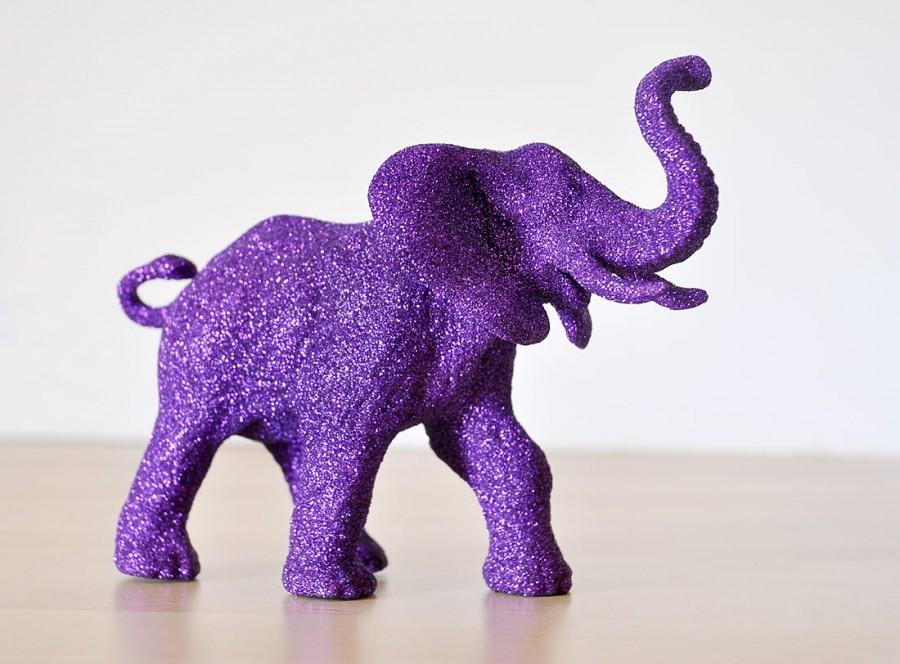 Purple Elephant Glitter Critter For Birthdays Jungle Baby Showers
