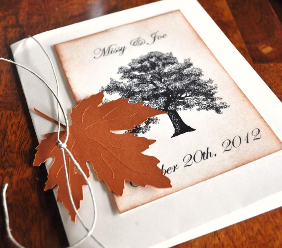 زفاف - Custom Fall Wedding Invitations Fall Wedding Choose Your Leaves Trees