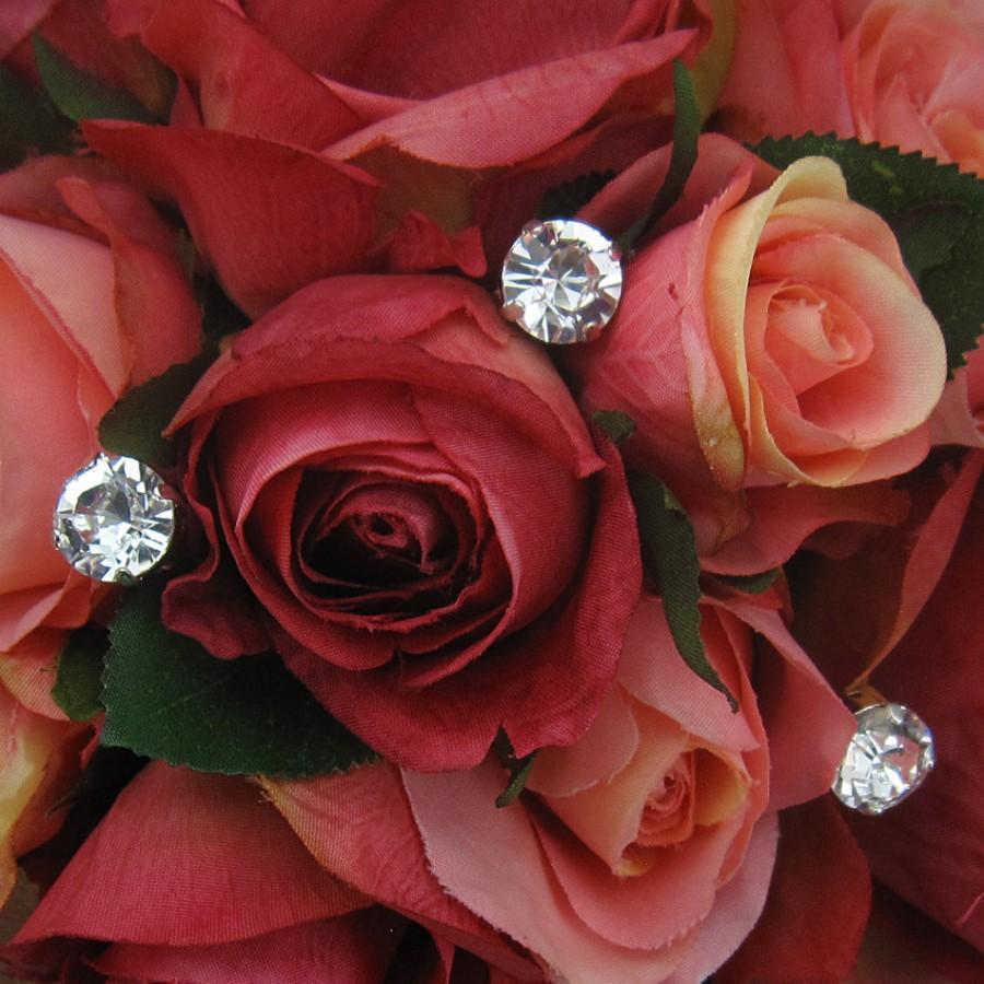 زفاف - Large Swarovski Crystal Rhinestone Bouquet Jewelry Stems Sticks, Wedding Bouquet Crystals, Bridal Bouquet Jewelry, Set of 3 Stems 214939693