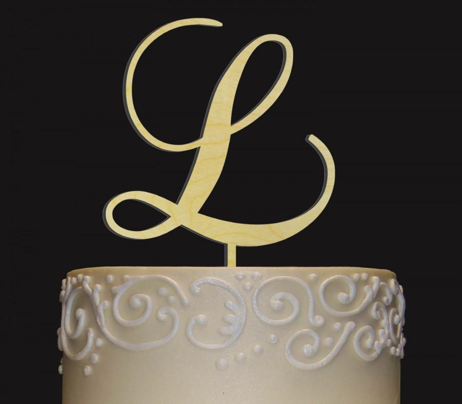 Wedding - Rustic Wedding Cake Topper - Personalized Monogram Cake Topper - Keepsake Wedding Cake Topper