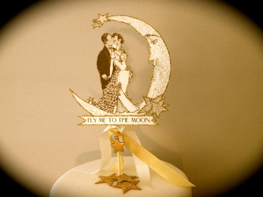 Wedding Cake Topper -- Customized -- Art Deco --Bride And Groom ...