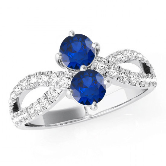 with ring labcreated v p sapphire and diamond blue silver lab created in sterling promise white rings accents