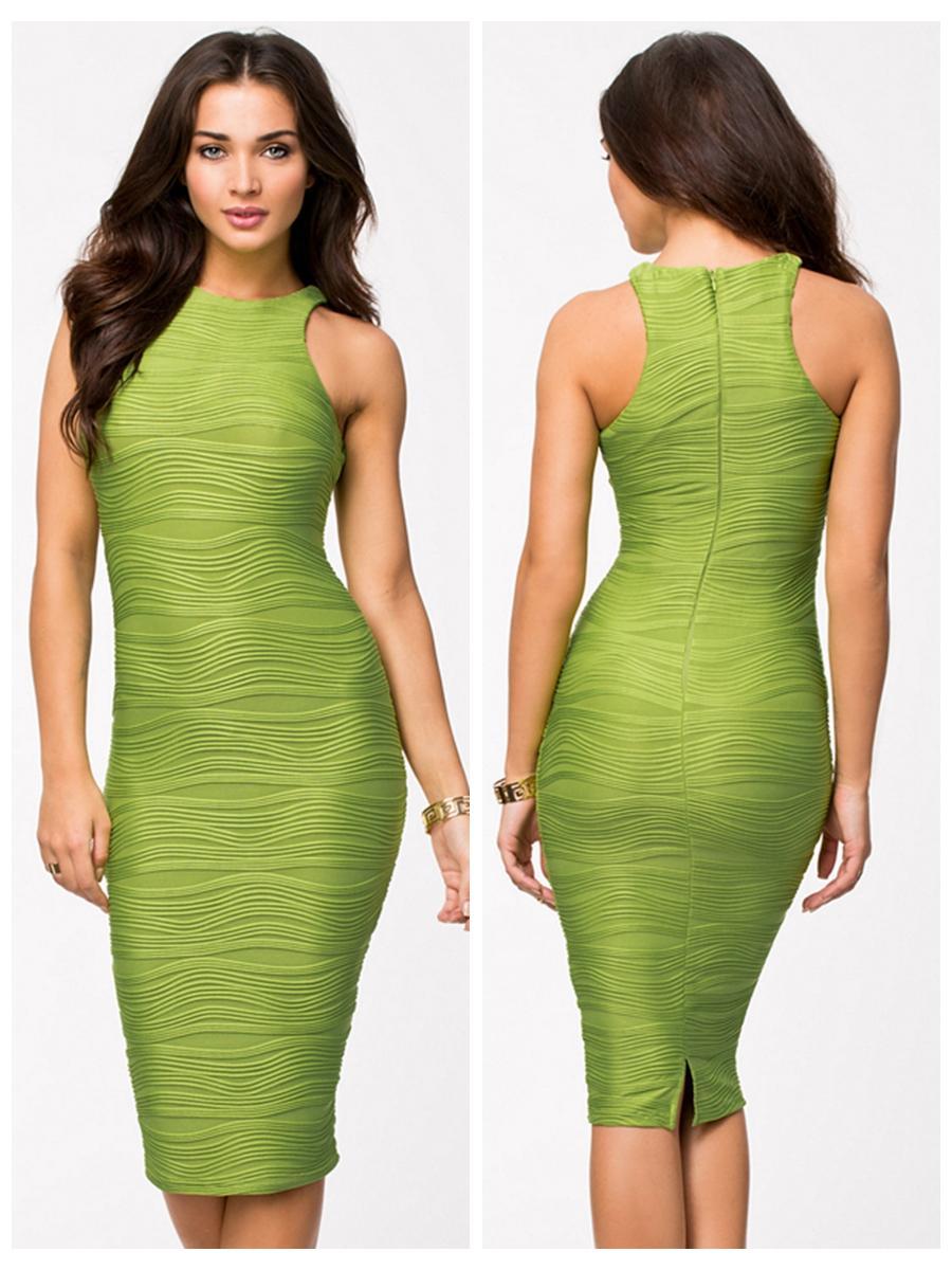 Wedding - Scoop Neckline Mermaid Knee Length Evening Dress