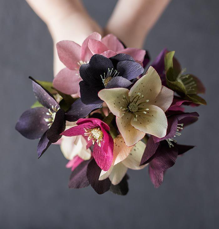 Wedding - Paper Hellebore Tutorial By Kate Alarcón (Design*Sponge)