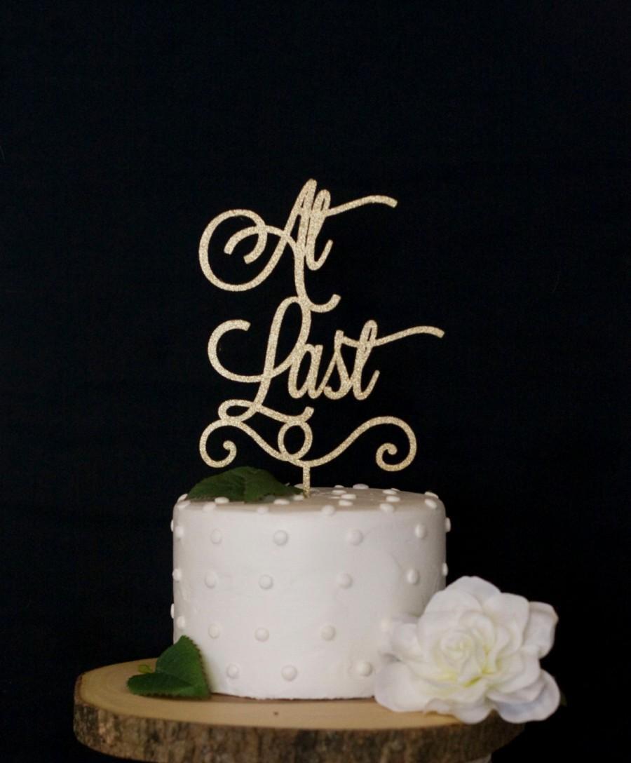 زفاف - At Last Cake Topper