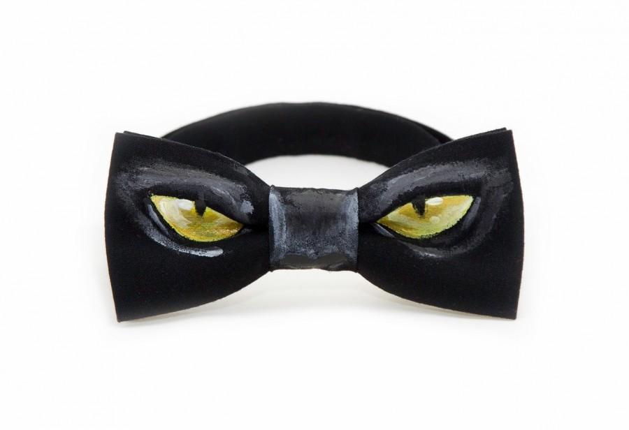 Mariage - Black Bow Tie For Man Best Mens Gift Boy Toddler FREE SHIPPING Boy Necktie Kids Bowtie