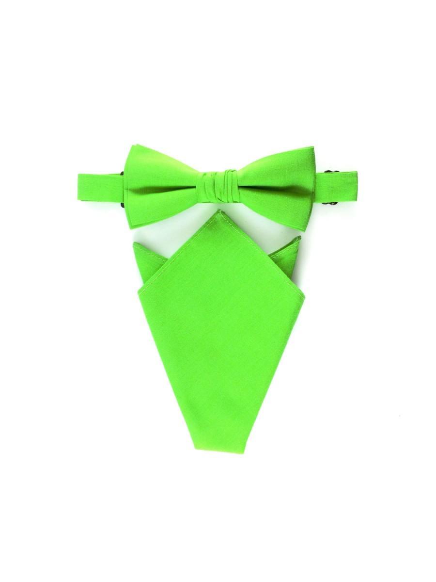 Свадьба - Groomsmen Pocket Square Wedding Bowties Bow Tie For Man Green Necktie Friend Gift For Him Groom Neckties Weddings