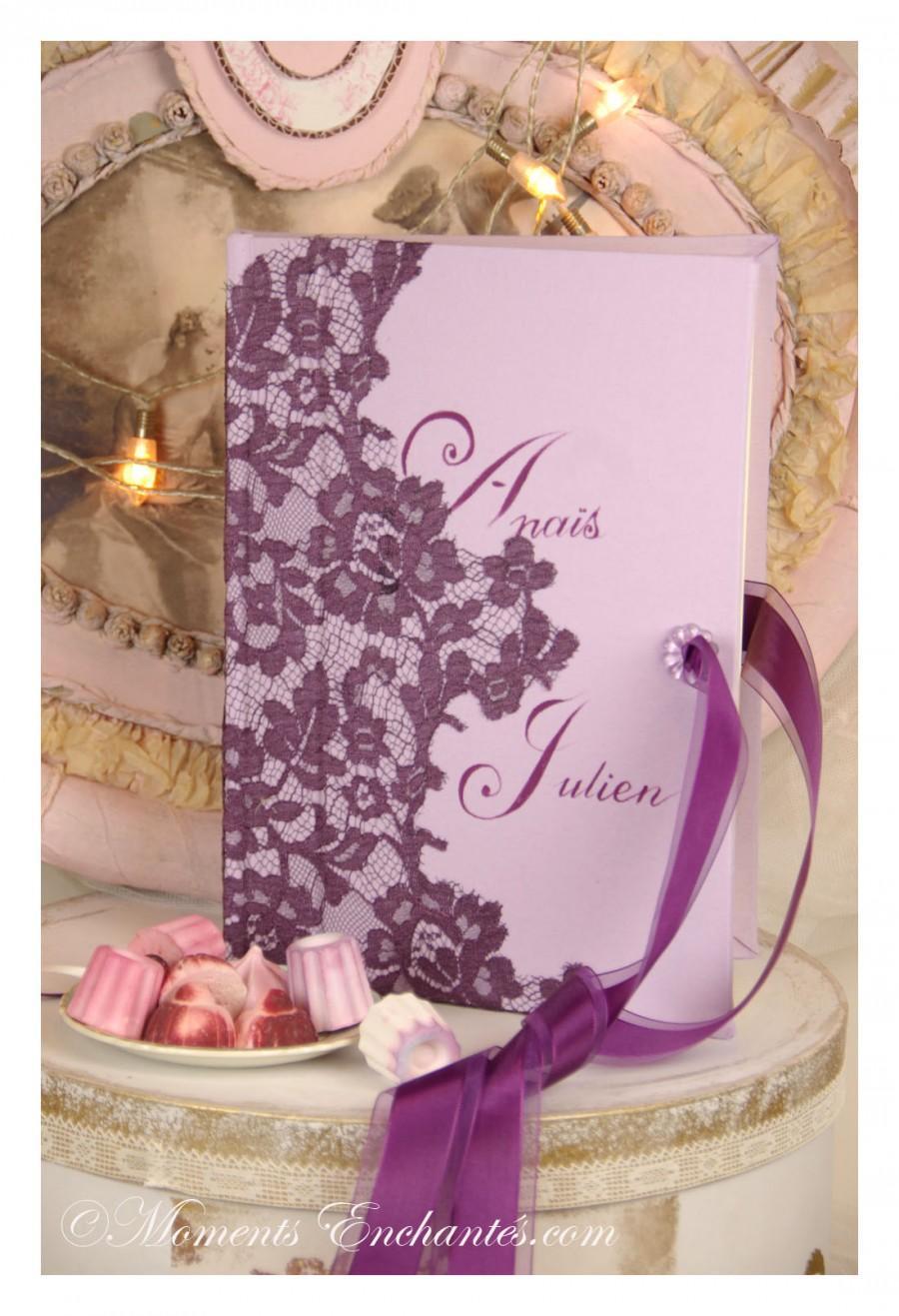 Mariage - Livre d'or mariage dentelle
