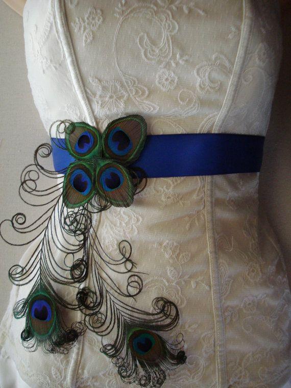 Peacock wedding dress belt