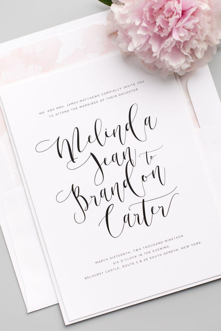 Wedding - Flowing Calligraphy Wedding Invitations
