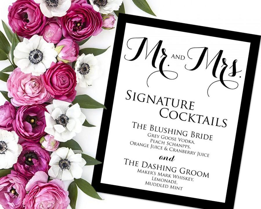 Signature drink sign signature drinks printable wedding signature drink sign signature drinks printable wedding reception sign wedding bar sign pdf instant download signature cocktails junglespirit Gallery