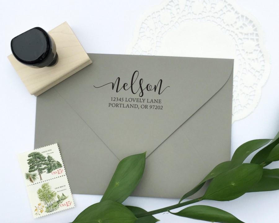 Wedding - Address Stamp - custom address stamp - return address stamp - calligraphy address stamp - custom stamp - rubber stamp - Z1121