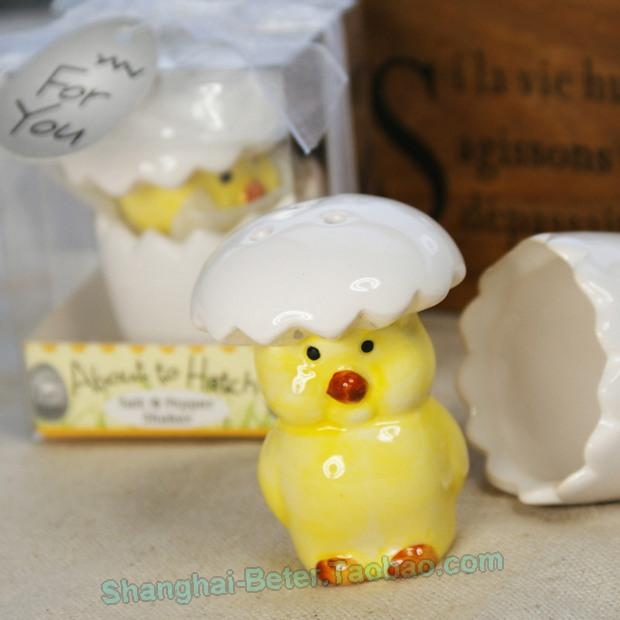 Wedding - Baby Chick Salt and Pepper Shaker Baby Birthday Party Souvenirs