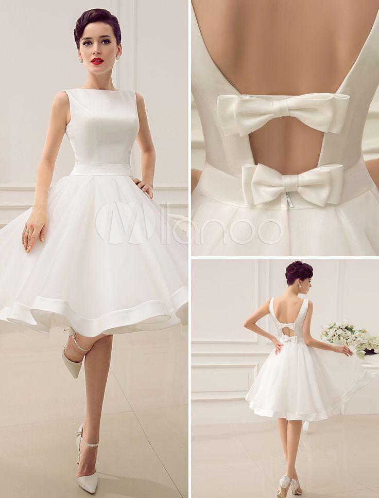 Свадьба - Vestido De Novia Con Escote Barco Y Rebete