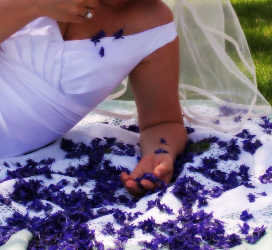 Свадьба - Blue Flowers, Flower Girl, Flowers, Dry Flowers, Purple, Blue, Larkspur, Petals, Basket, Flower Girl, Flowergirl, Wedding, Violet, 3 US cups