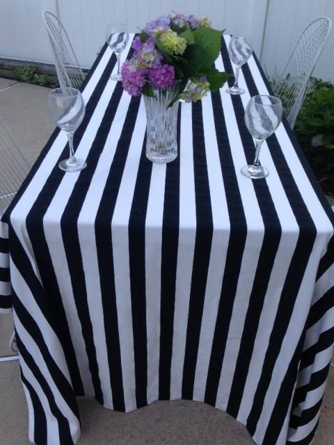 Black And White Canopy Table Cloth Part 72