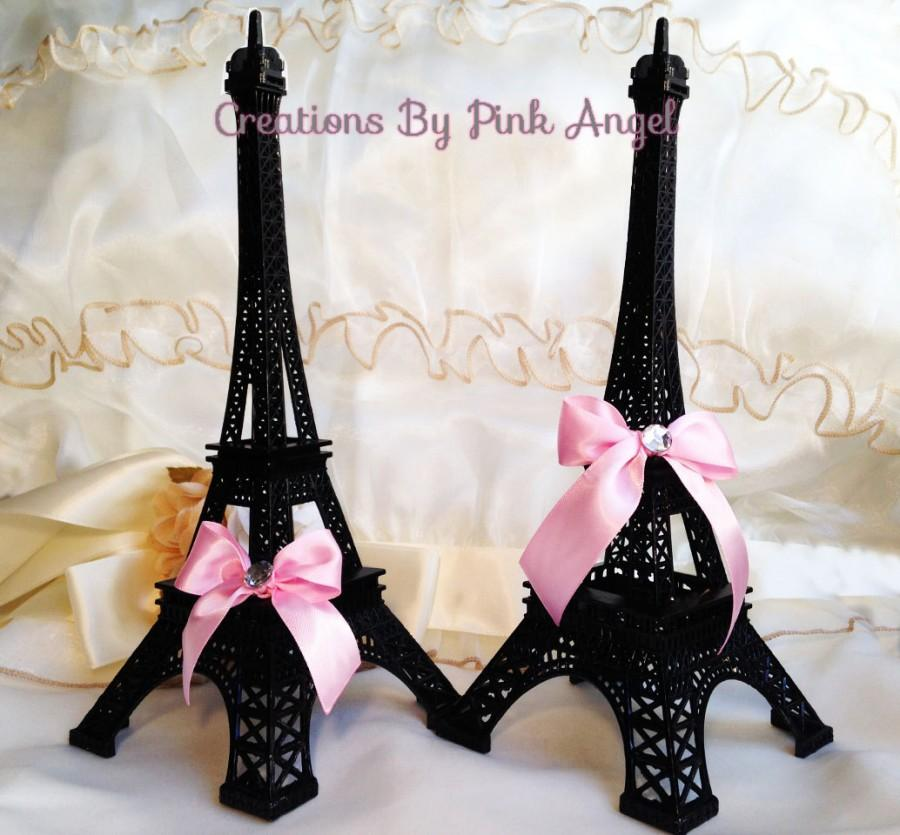 "Mariage - 10"" Black Metal Eiffel Tower, Eiffel Tower Cake Topper, Paris Wedding, Eiffel Tower Centerpiece, Eiffel Tower Replica, Paris Bridal Shower"