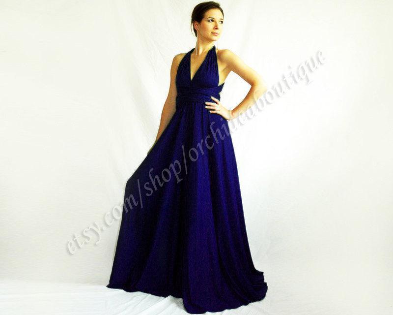 Navy Bridesmaid Dress Infinity Evening Convertible Wrap Chameleon ...