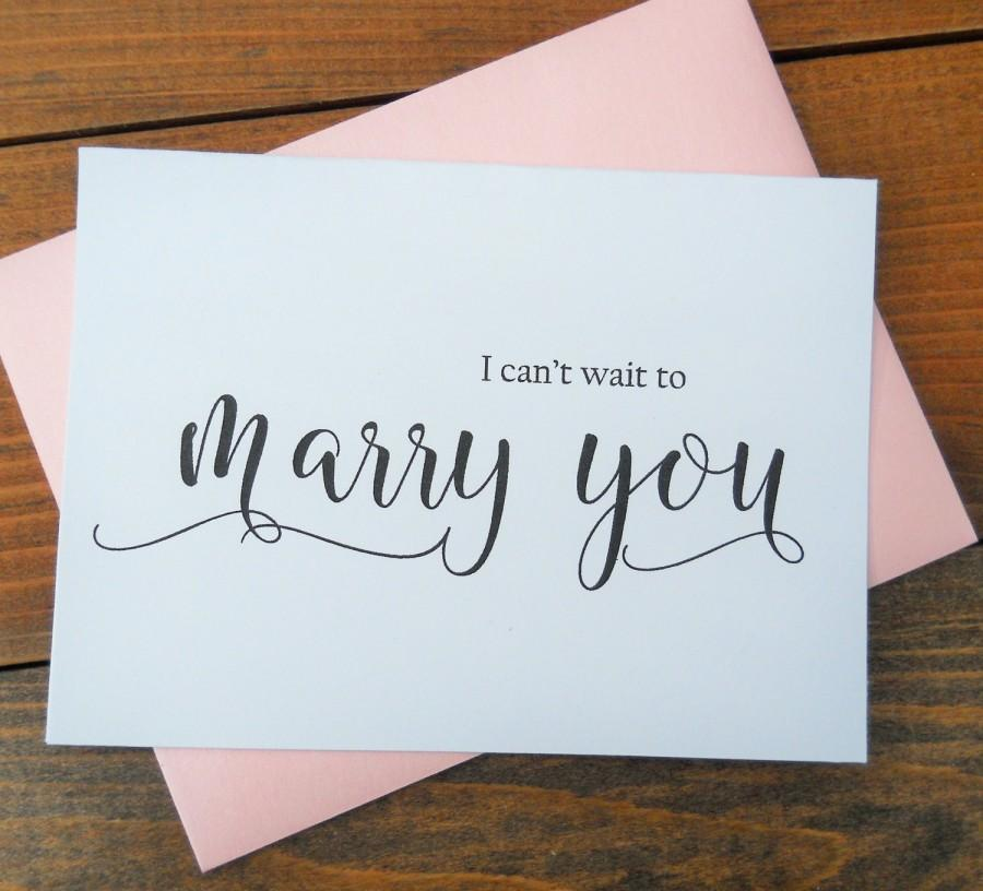 I CAN T WAIT to Marry You Card  Shimmer Envelope  Wedding Note Card  To My  Bride Card  To My Groom Card  Wedding Stationery. I CAN T WAIT To Marry You Card  Shimmer Envelope  Wedding Note