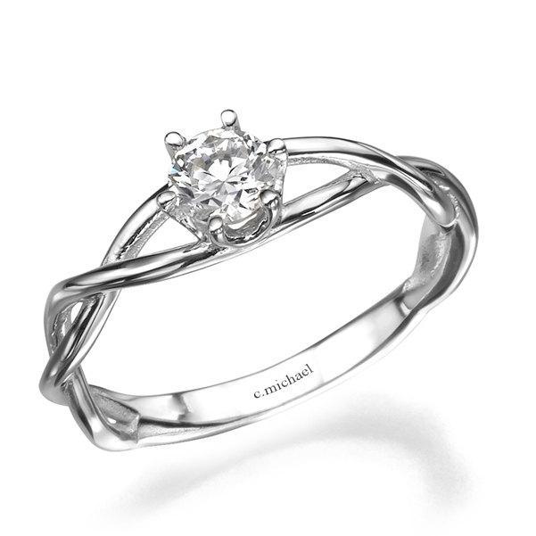 Diamond Rings Infinity Ring Engagement Ring Wedding Ring