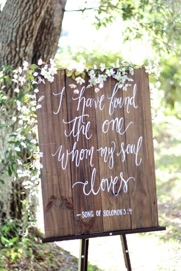 Wedding - Rustic Wooden Wedding Sign