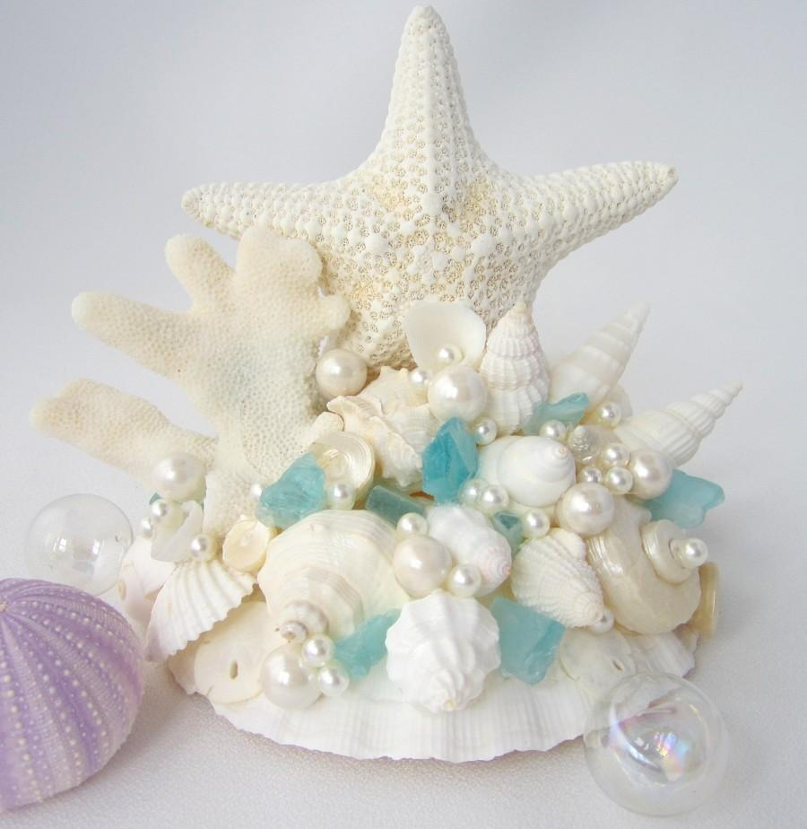 Starfish Cake Topper Beach Wedding Cake Topper Nautical