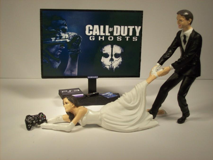 Gamer Girl Call Of Duty Ghosts Ps3 Bride And Groom Funny