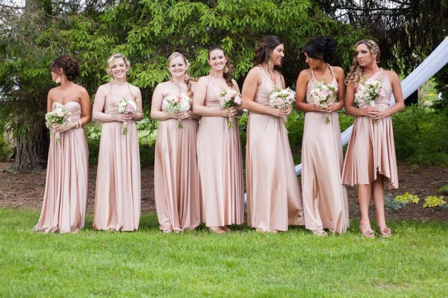 b0f7d7c4e2e Infinity Dress (similar to Two Birds) Multiway Bridesmaid Dresses made in  your colors   exact measurements ALL COLORS rosegold blush