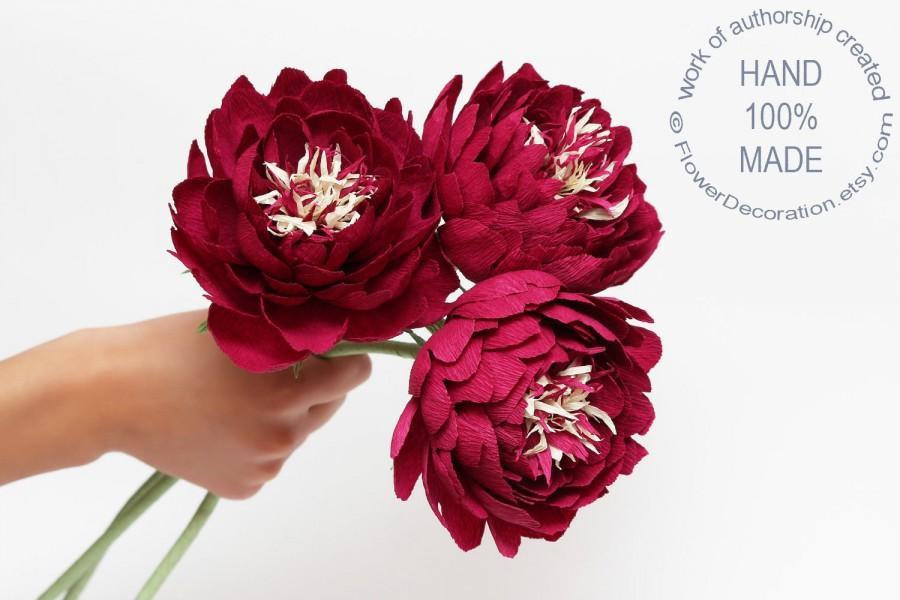Mariage - wedding bouquet, peonies,  bridal peonies, alternative bridal bouquet, paper peonies, wedding peonies, ecofriendly bouquet, eco bridal