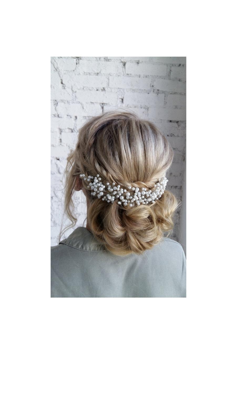 Свадьба - Bridal hair comb - Bridal headpiece - Wedding headpiece - Pearl bridal hair comb - Pearl bridal headpiece