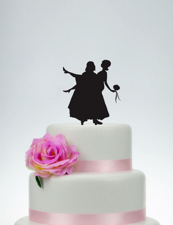Свадьба - Star War Wedding Cake Topper,Custom Cake Topper,Personalized Cake Topper,Engagement Cake Topper,Cake Decoration,Bride and Groom Topper P098