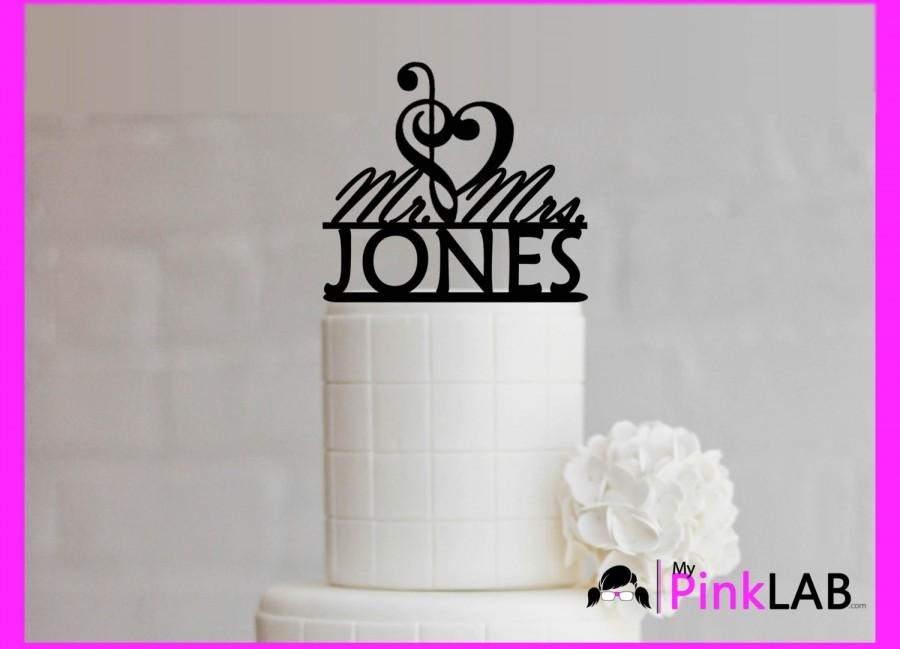 Mariage - Mr and Mrs Cake Topper Music Note Cake Topper Wedding Musical Wedding Cake Topper musician wedding theme-music cake decor music