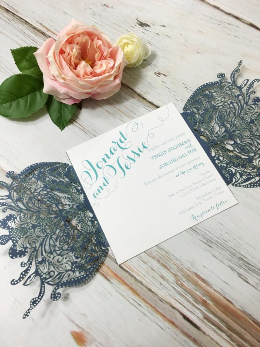 Laser Cut Wedding Invitation Enclosure CD Sleeves Thank You CD