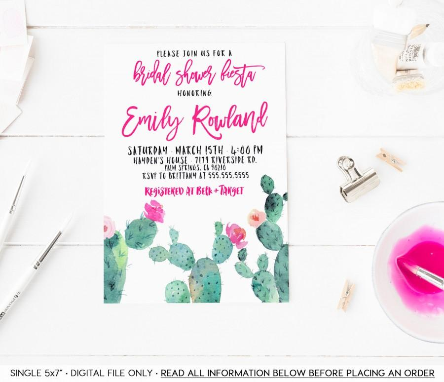 0ccf54da860c Fiesta Bridal Shower Invitation