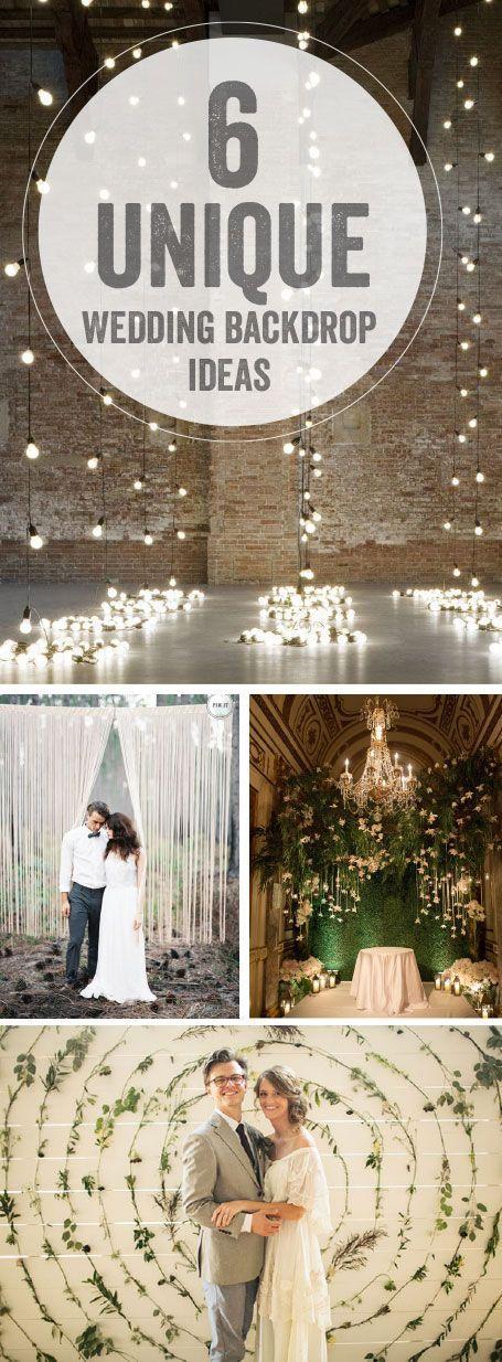 Wedding - 6 Unique Wedding Backdrop Ideas