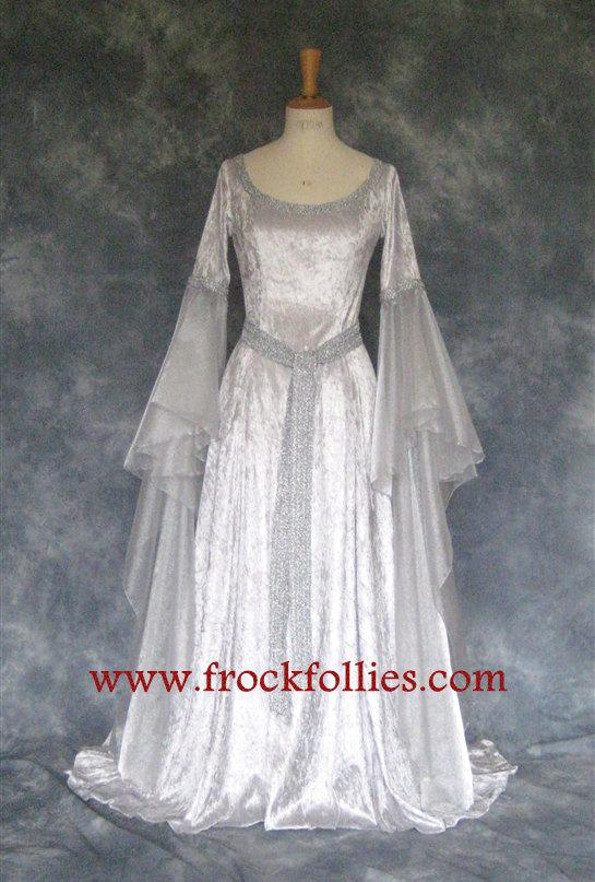 زفاف - Elvira, a Medieval, Elvish, Faery, Celtic, Custom Made Wedding, Hand Fasting Dress