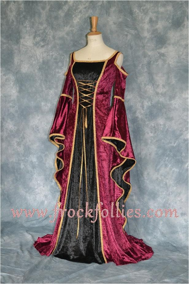 "Mariage - Renaissance Gown,Elvish Wedding Dress, Handfasting Dress,Medieval Gown,Gothic Dress,Prom Dress,LARP Dress, ""Rachael"""