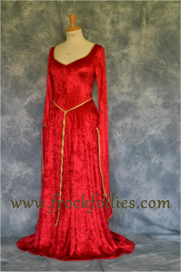 Elvish Dress,Medieval Gown, Fantasy Dress, Pagan Dress, Robe Elfique ...