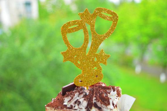 Mariage - Bridal Shower Cupcake Topper Engagement Party Decor Bridal Shower Decor12 Glitter Cupcake Topper Wedding Cupcake Toppers