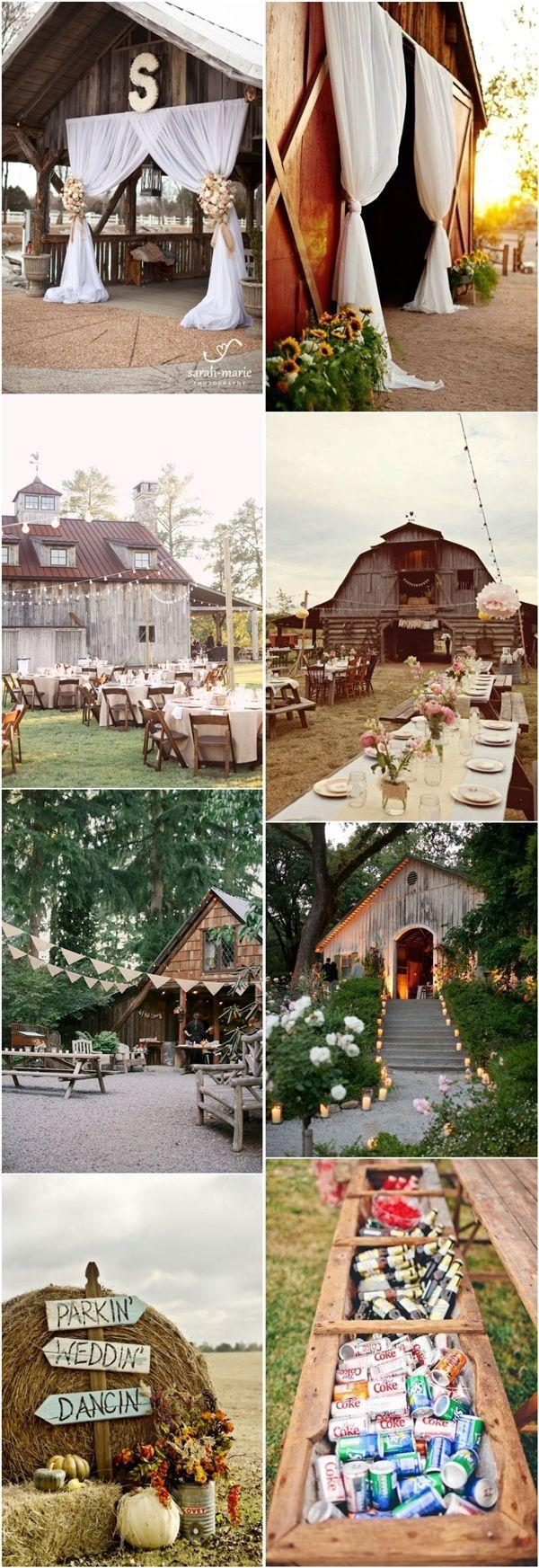Rustic Outdoor Wedding Ideas Country Barn Wedding Decor