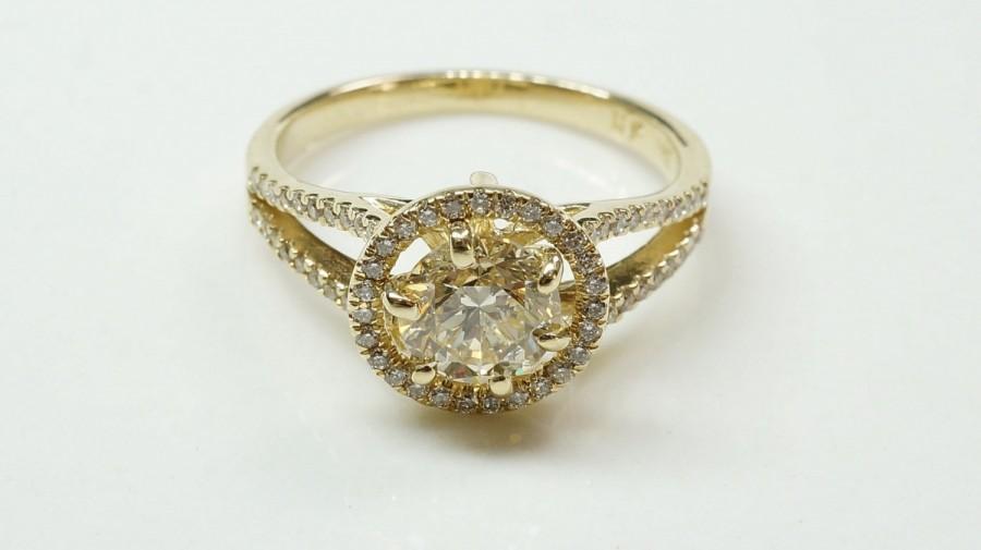 Mariage - ON Sale!!! Diamond Ring 1.50 ct- Engagement ring - wedding band- promised ring - yellow gold 14 k-Bridal Jeweler- Wedding & Engagement