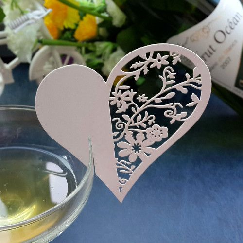 Mariage - 2015 NEW 10Pcs/set Love Heart Wine Glass Card Cup Card Table Mark Place Name Cards For Wedding Party Event-in Event & Party Supplies From Home & Garden On Aliexpress.com