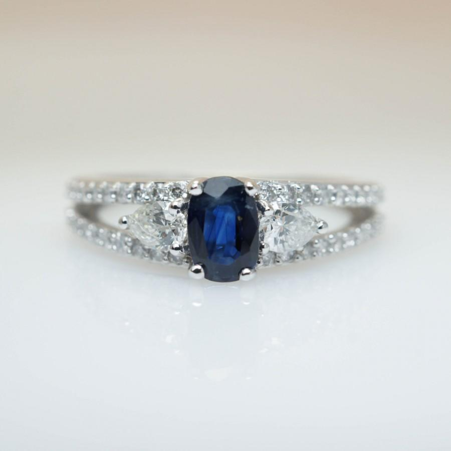 sale rings jewelry blue for three stone x sapphire engagement natural ring cornflower diamond j id