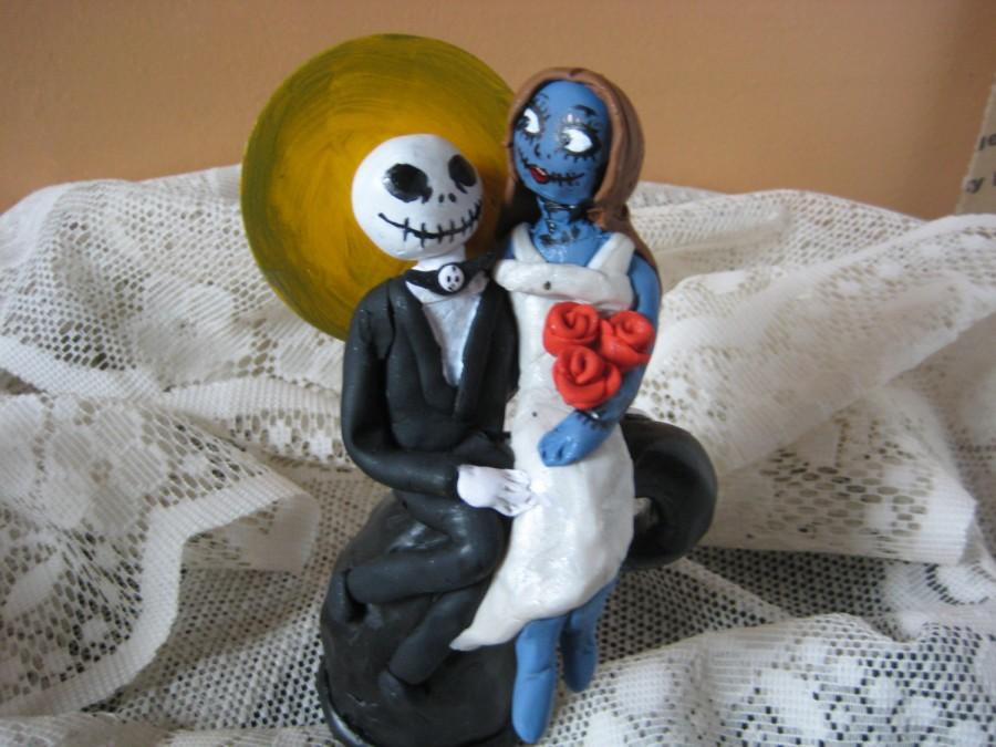 Jack Skellington And Sally Wedding Cake Topper