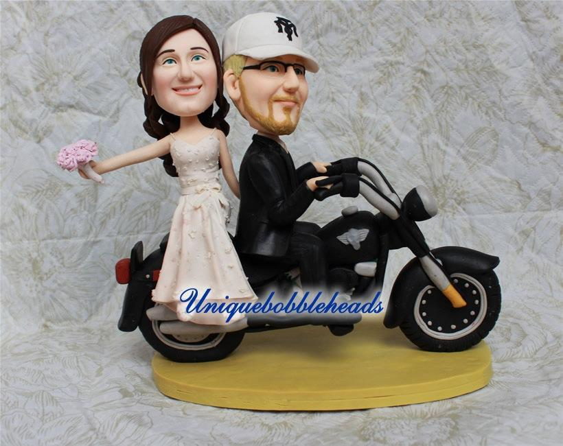 Motorcycle Wedding Cake Topperunique Topperfunny Toppercustom Madebride Toppergroom Topper Look Like You