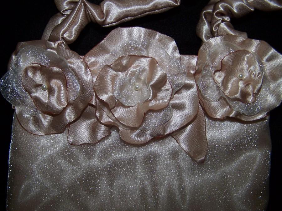 Mariage - Handbag-Floral Bouquet Bridal Bag, Bridesmaids bags, Purses, Dressy Bags, Fashion Bags, Couture Bags, Flower Girl Bag, Brides, Bag