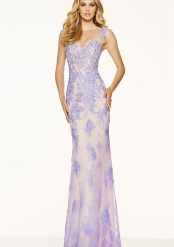 Wedding - Lilac Cap Sleeves Appliques Lace Ruched A-line Sweetheart Floor Length