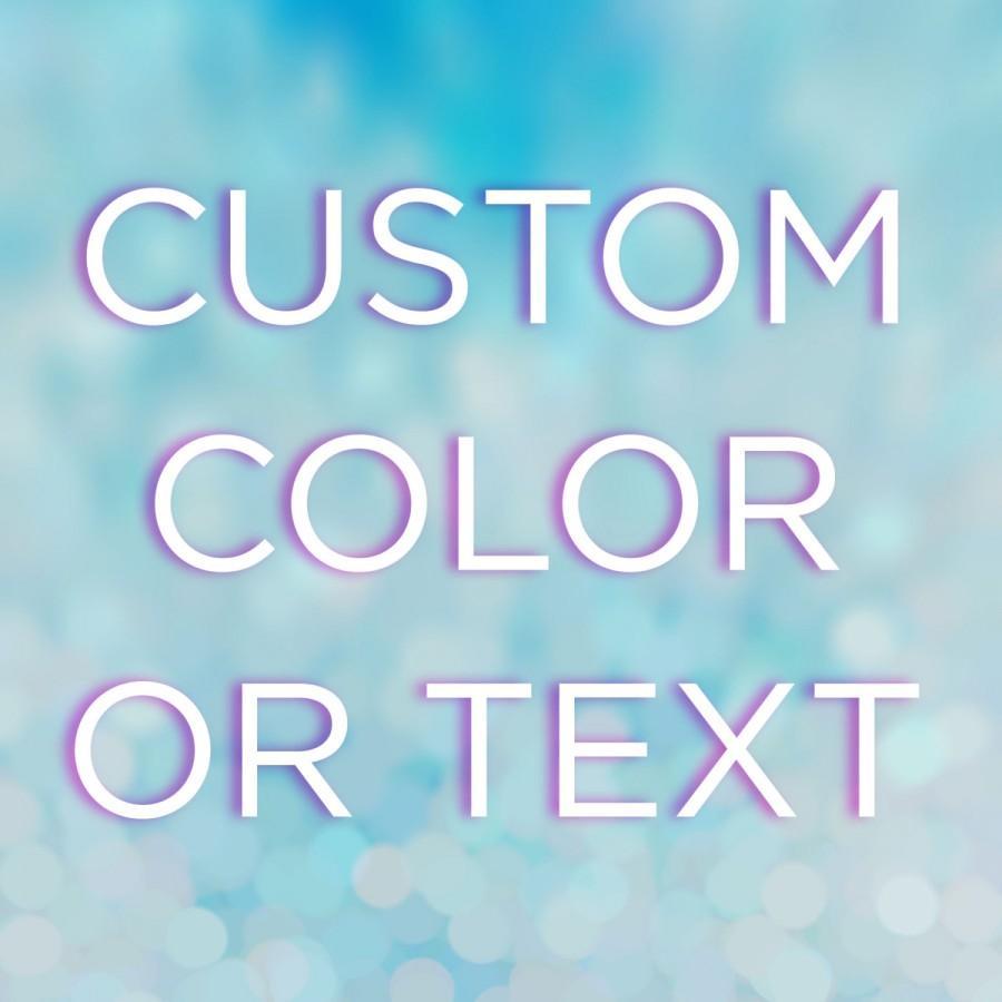 زفاف - Add Custom Color or Text