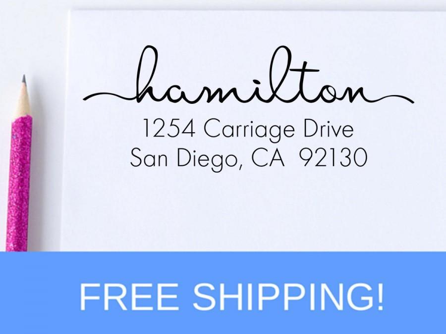Свадьба - Personalized Address Stamp - Self Inking Address Stamp - Return Address Stamp (D112)